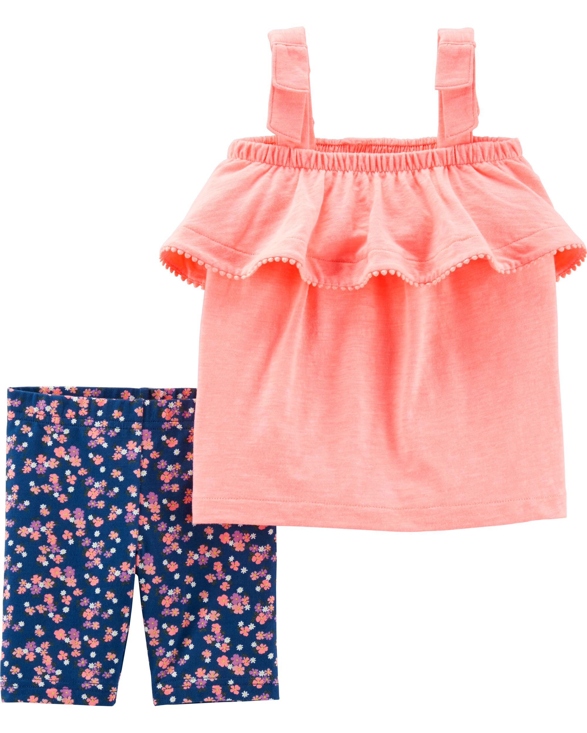 *Clearance*  2-Piece Neon Tank & Floral Tumbling...