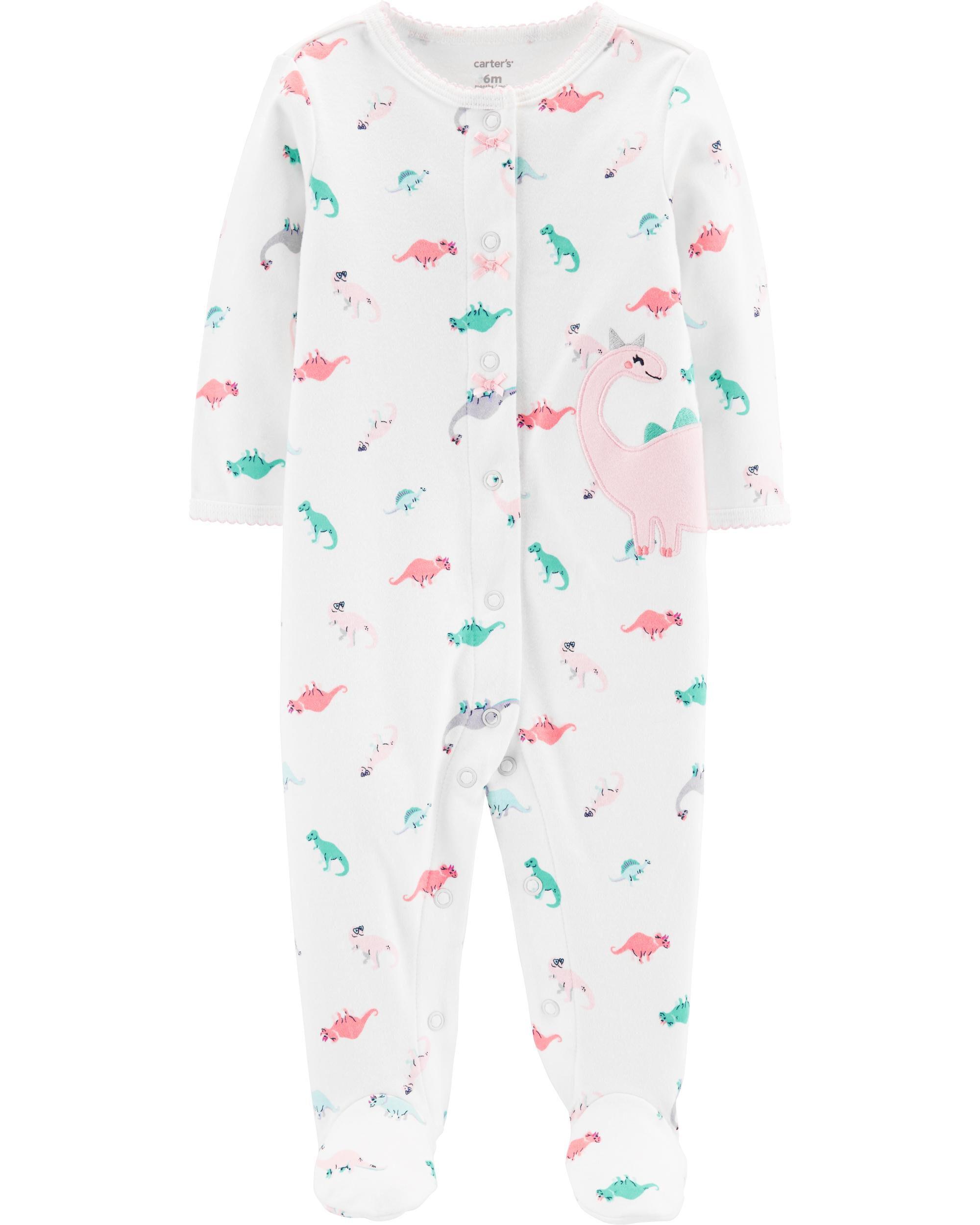 *Clearance*  Dinosaur Snap-Up Cotton Sleep & Pla...
