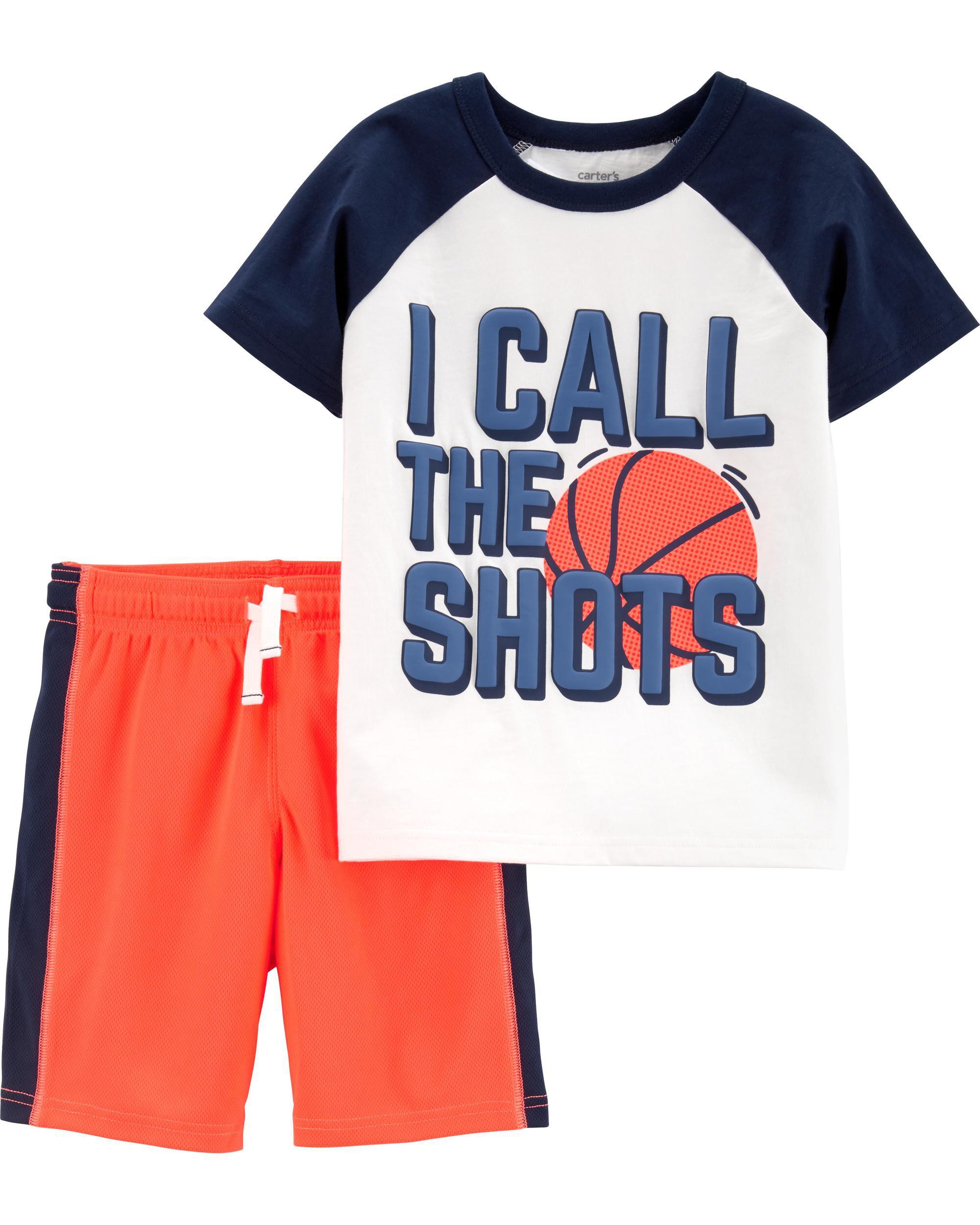 *Clearance*  2-Piece Basketball Tee & Mesh Short...