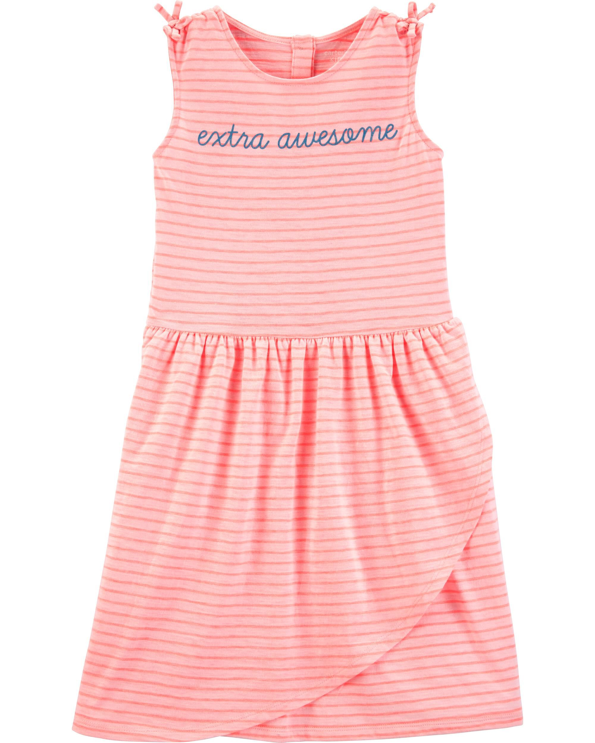 *Clearance*  Striped Awesome Slub Jersey Dress