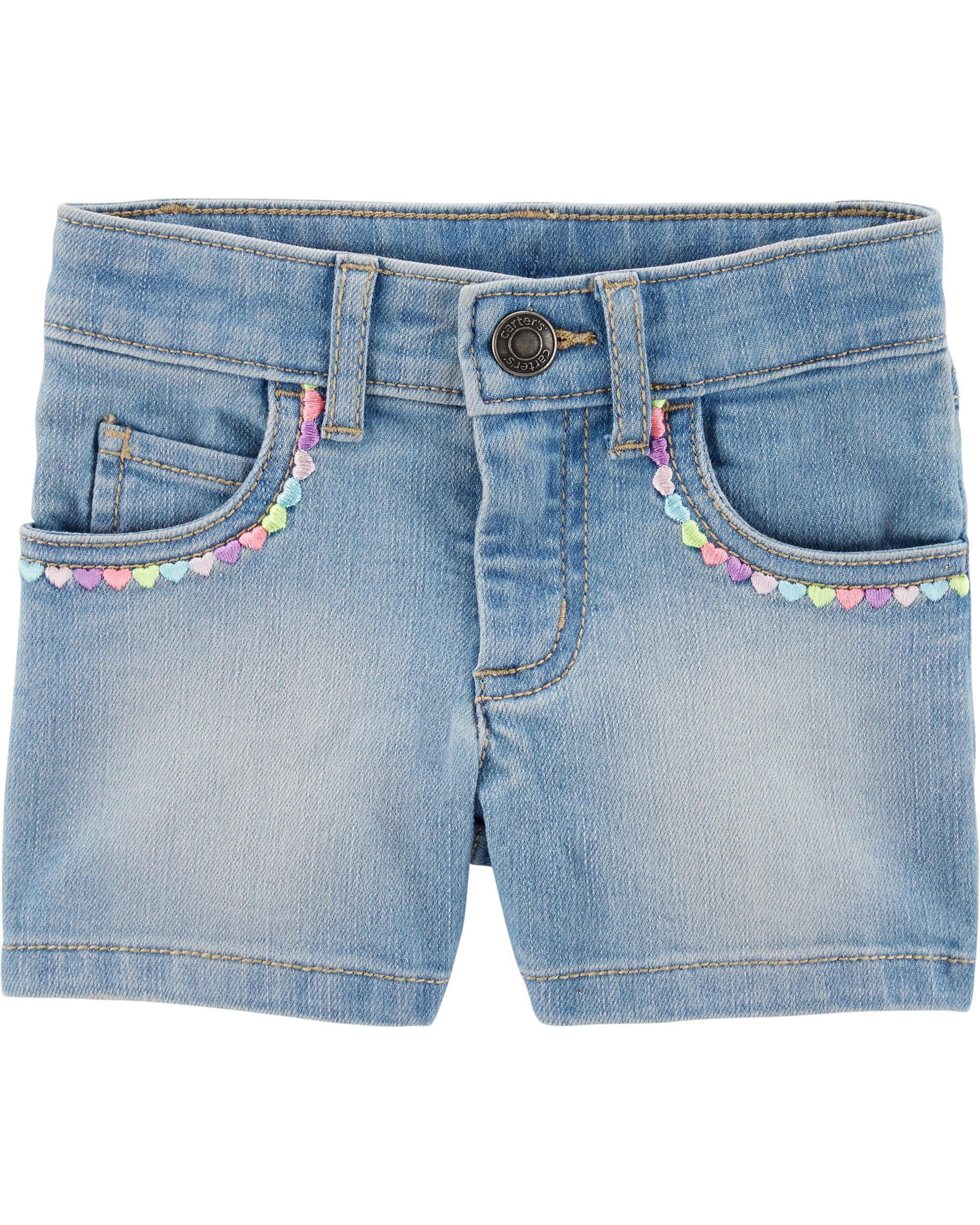 *Clearance*  Sequin 5-Pocket Denim Shorts