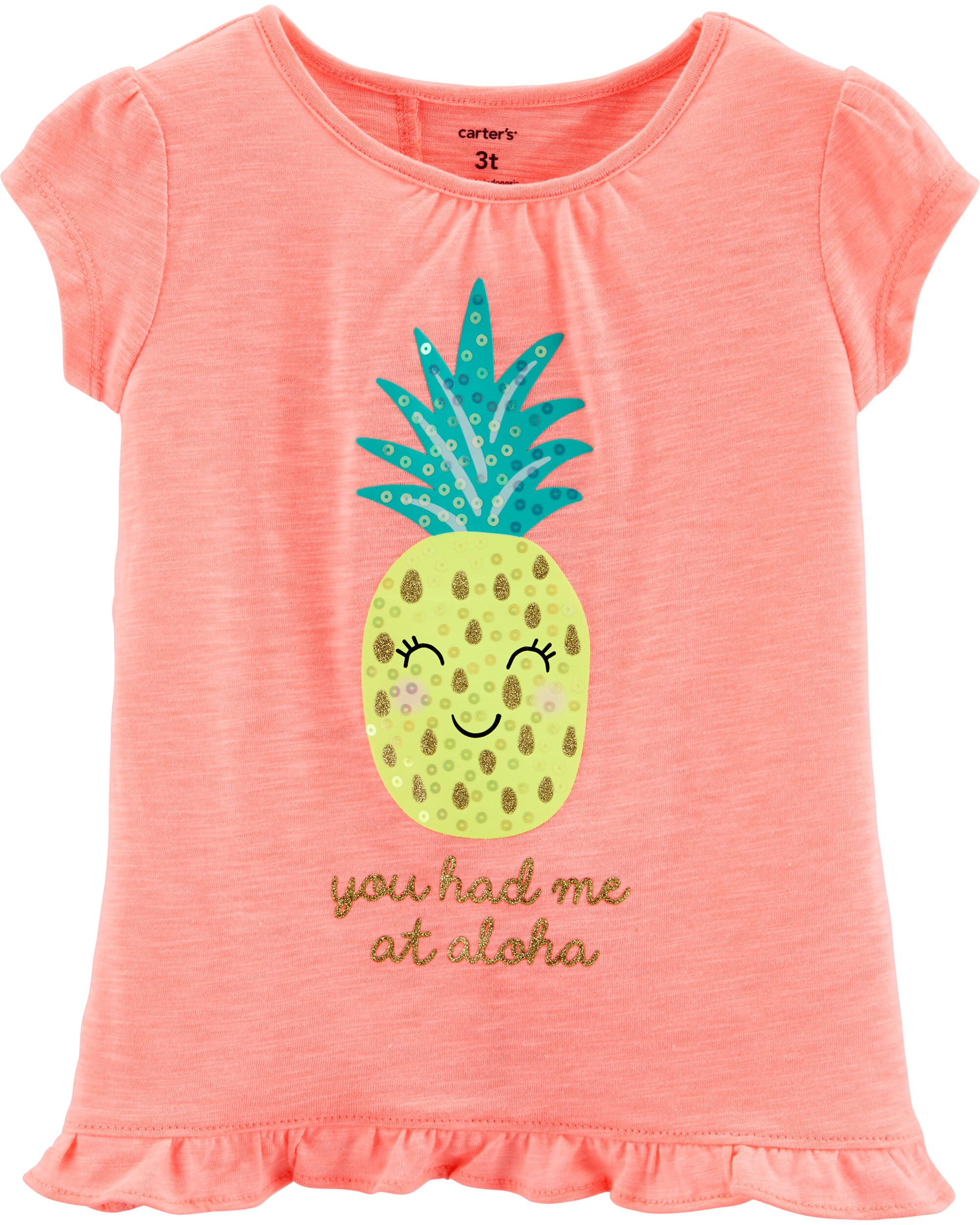 *Clearance*  Neon Sequin Pineapple Tulip Back Sl...