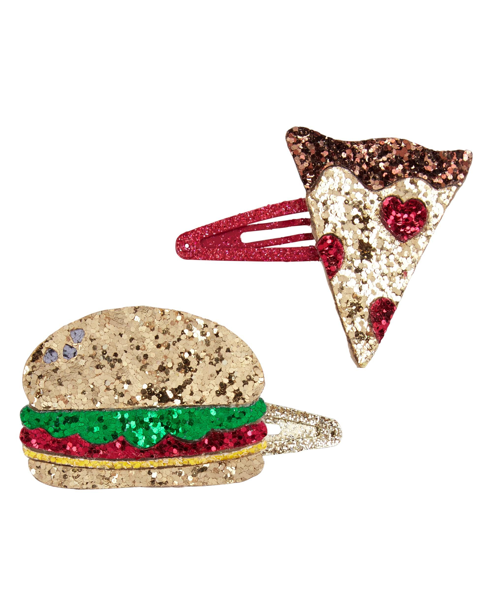 *Clearance*  2-Pack Food Hair Clips