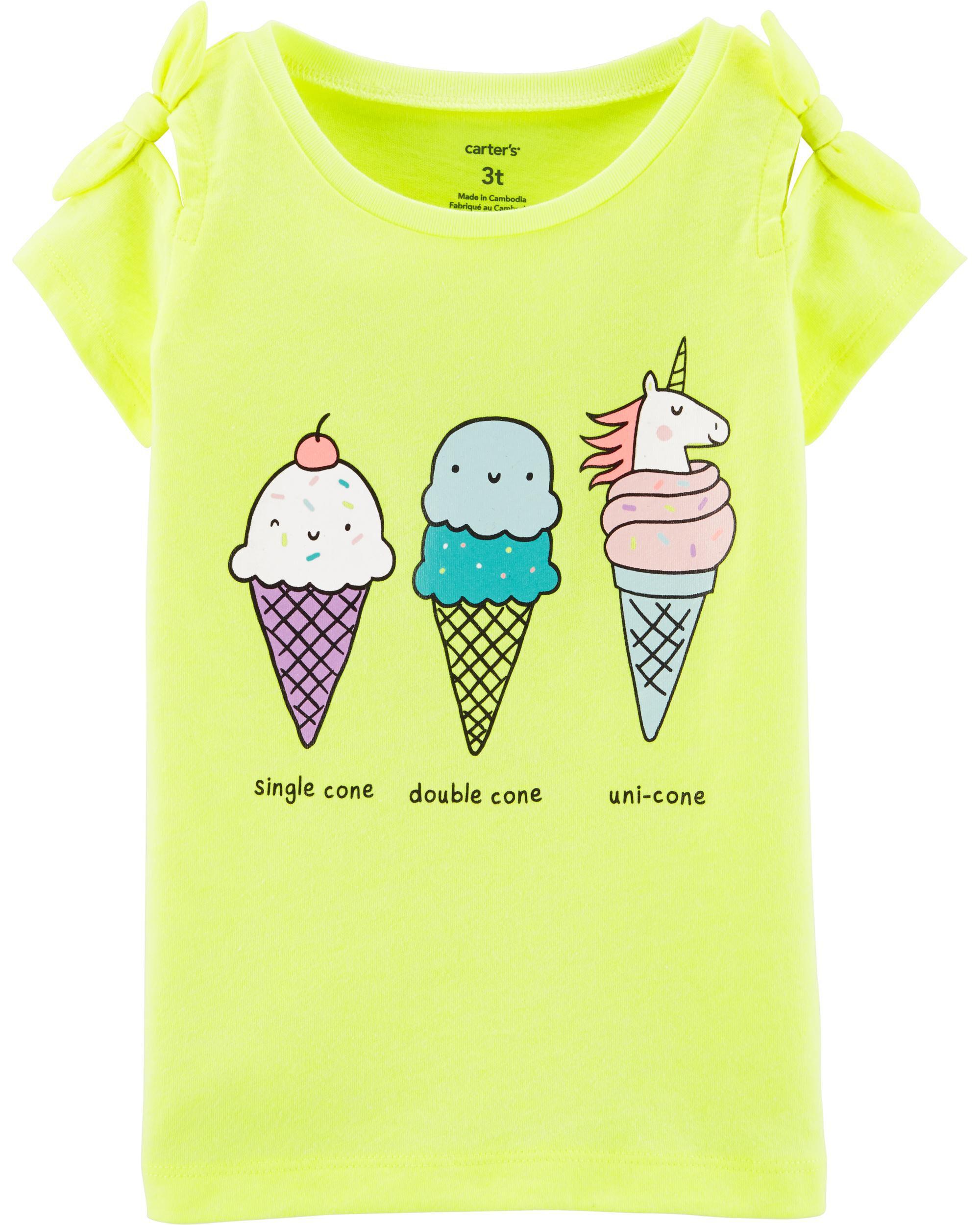*Clearance*  Neon Unicorn Ice Cream Cone Tee