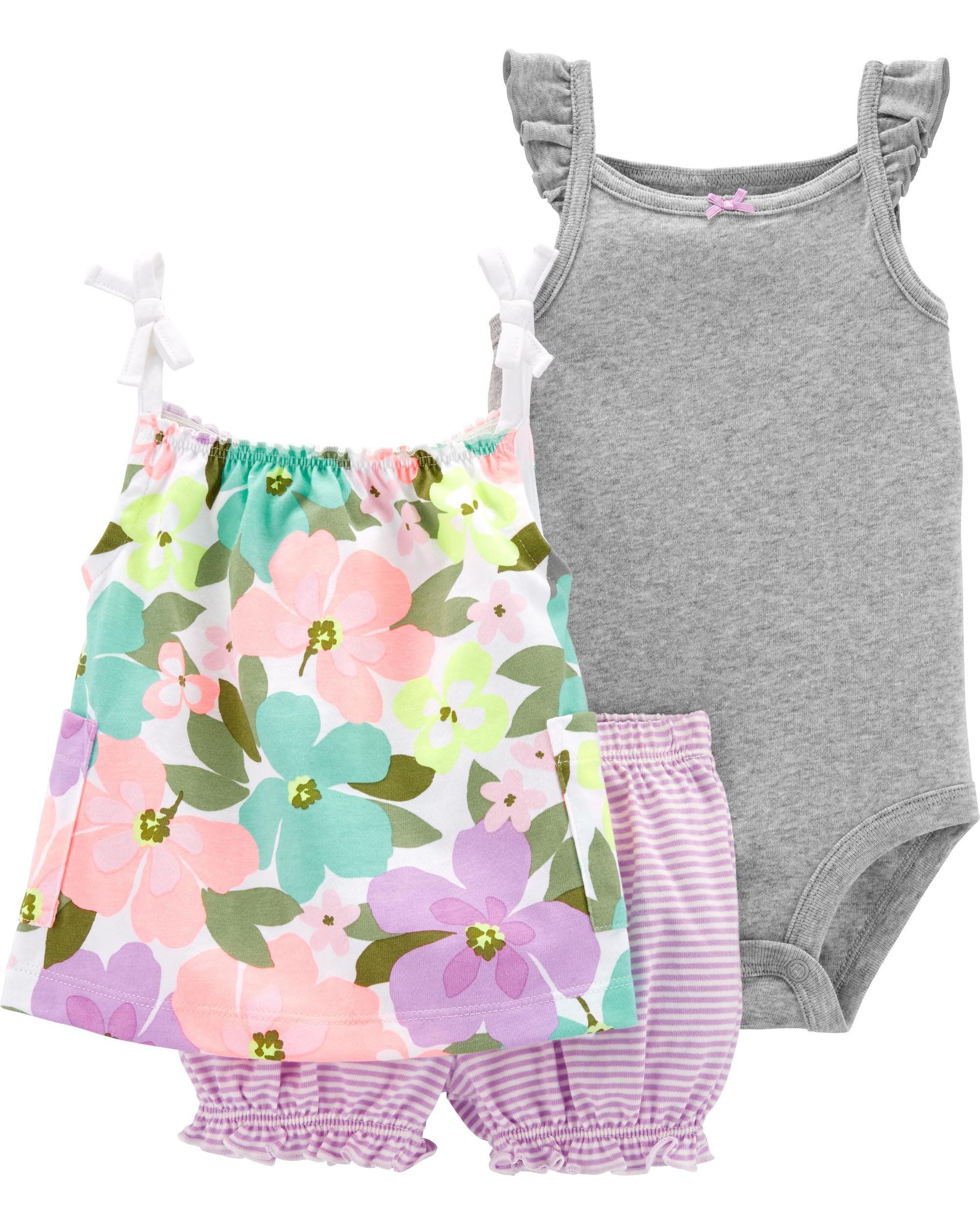 *Clearance*  3-Piece Floral Little Short Set