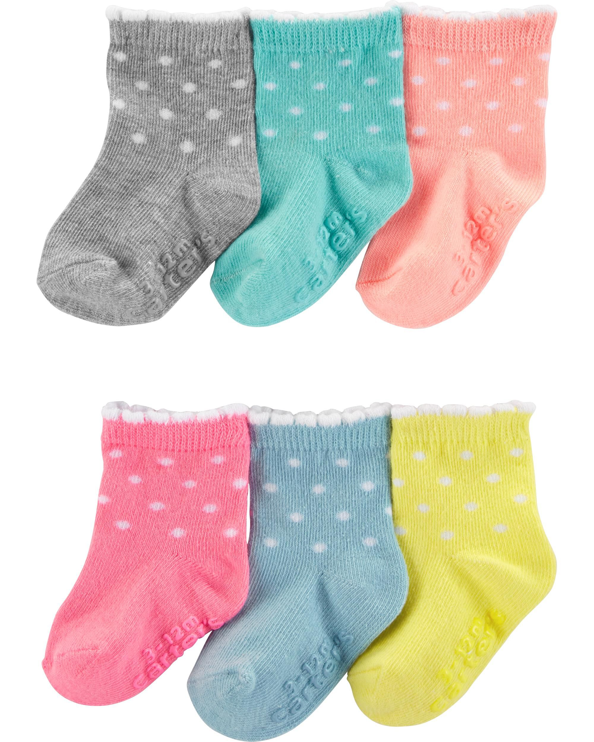 *Clearance*  6-Pack Polka Dot Booties
