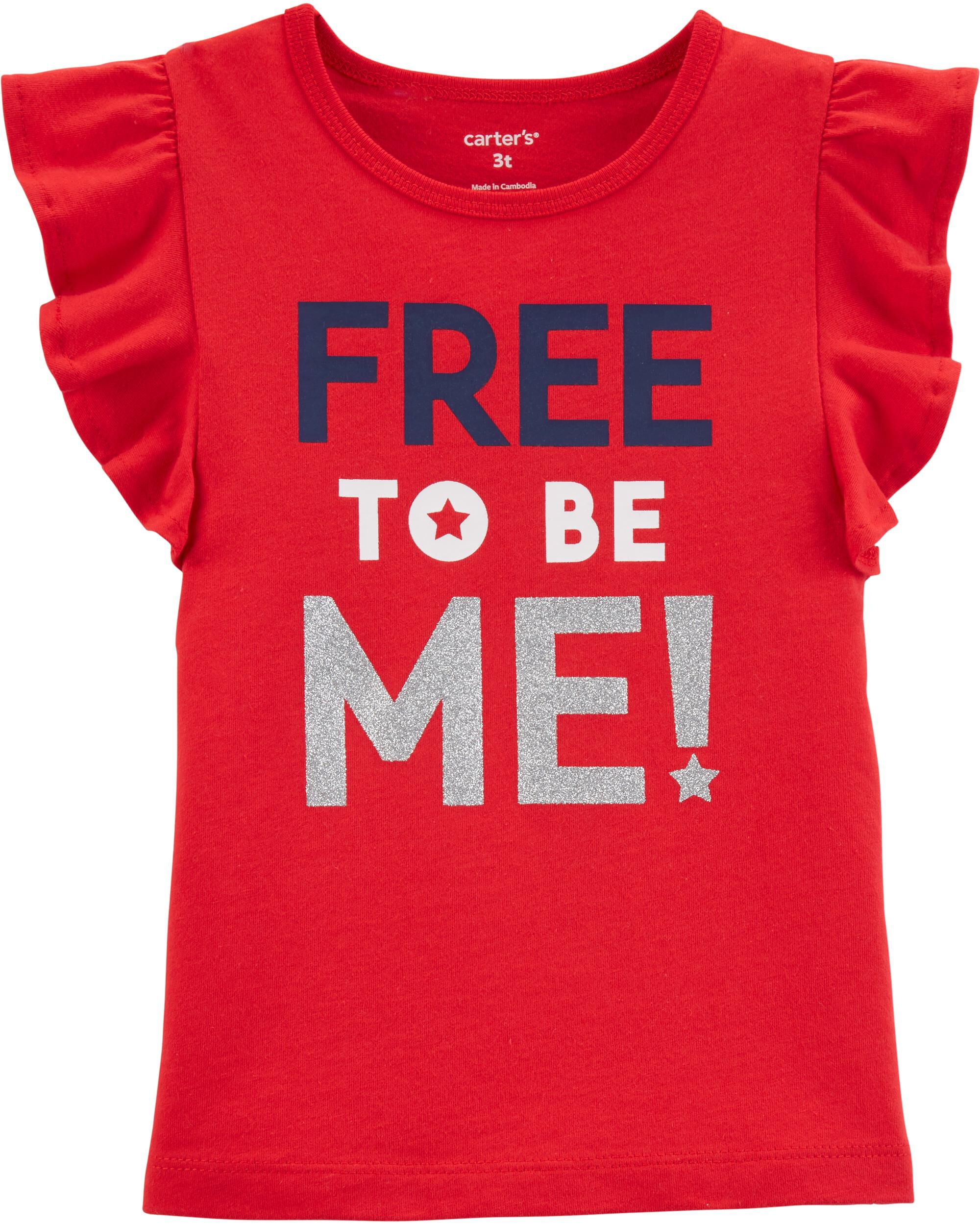 *Clearance*  4th Of July Glitter Flutter Tee
