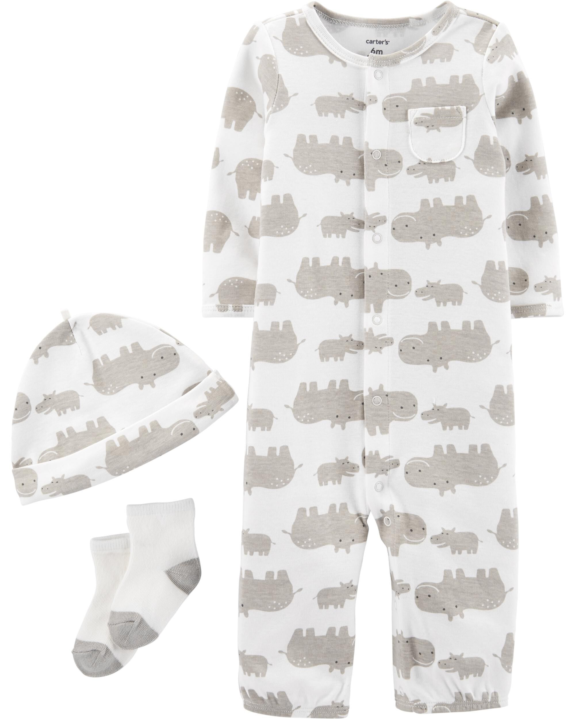 3-Piece Hippo Take-Me-Home Set