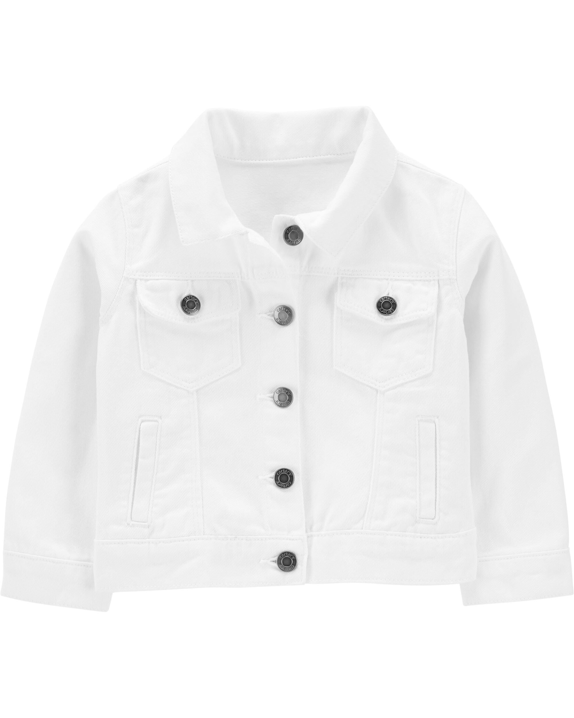White Twill Denim Jacket
