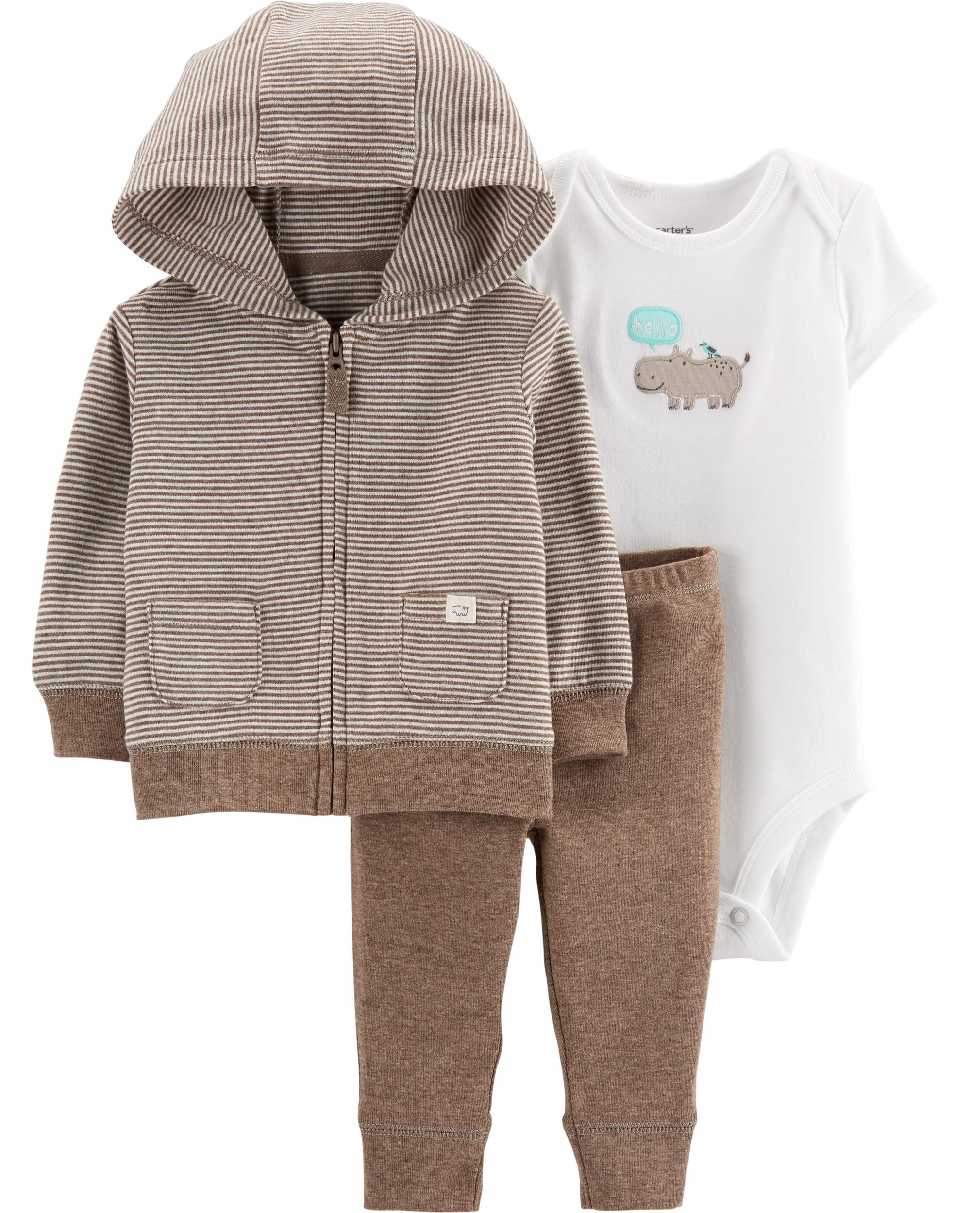 3-Piece Hippo Little Jacket Set