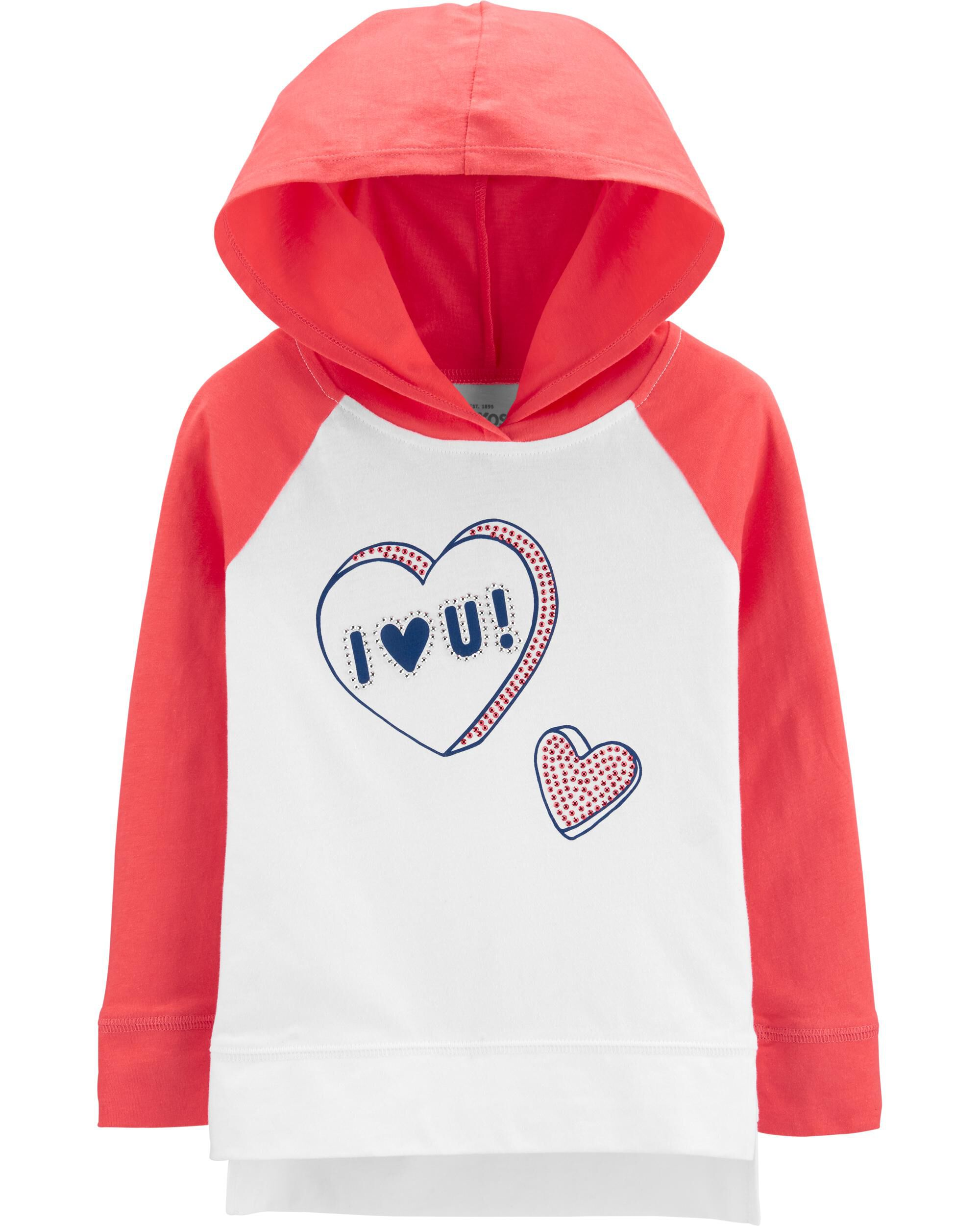 Candy Heart Hooded Tunic