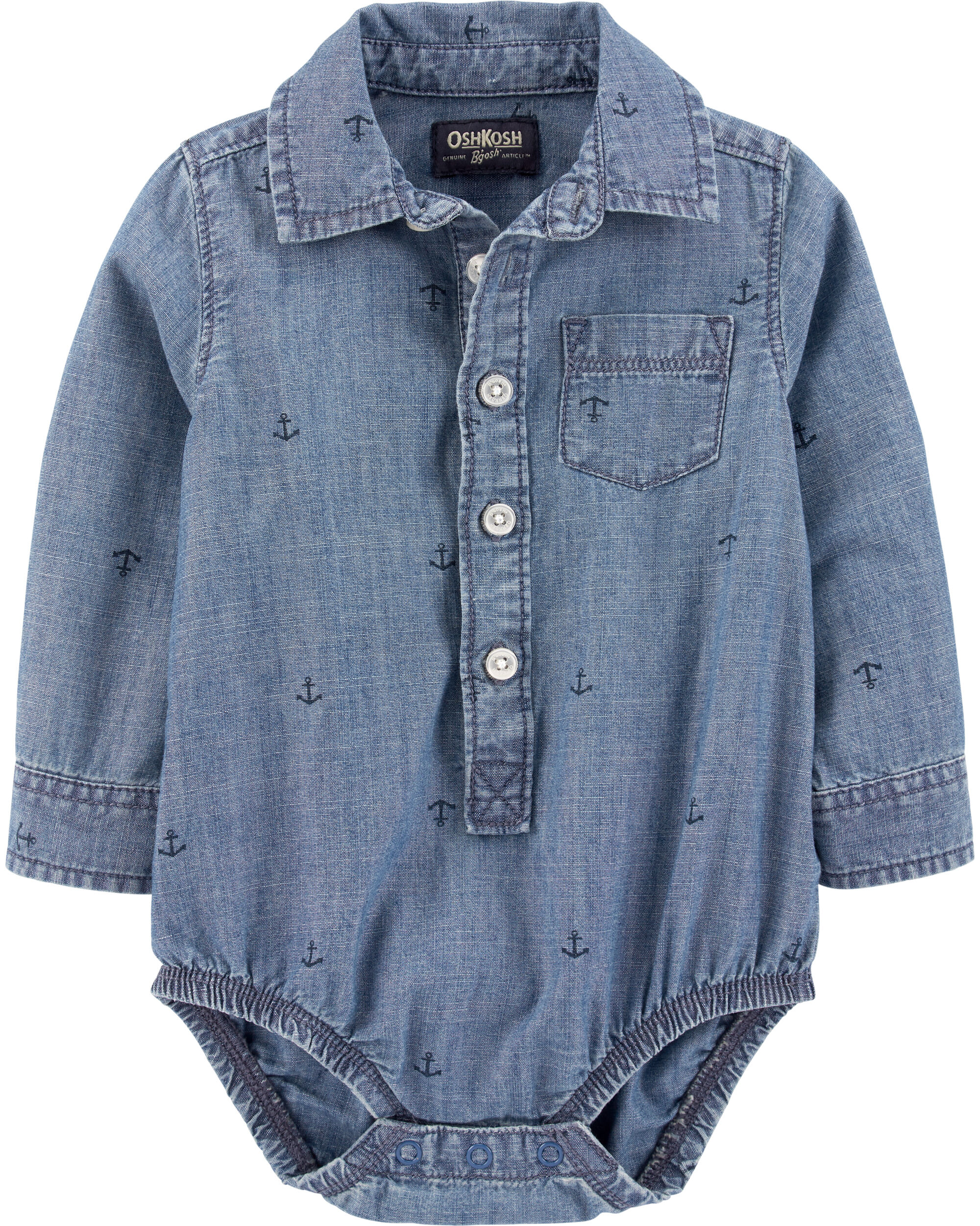 Anchor Chambray Button-Front Bodysu...